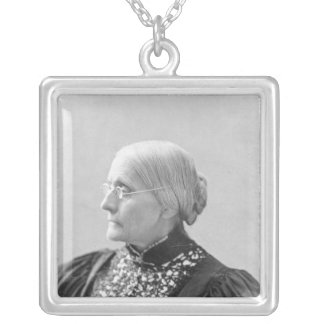 Susan Brownell Anthony  c.1890-1906 Silver Plated Necklace