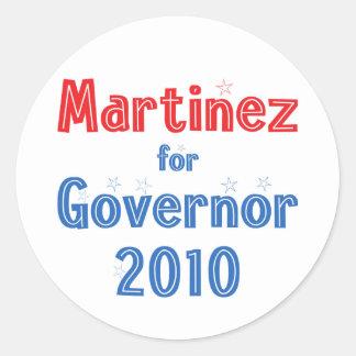 Susana Martinez for Governor 2010 Star Design Round Sticker
