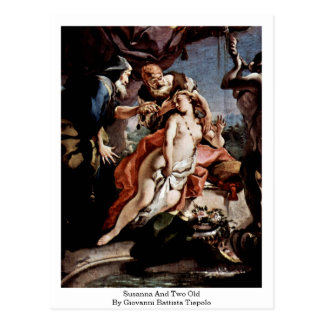 Susanna And Two Old By Giovanni Battista Tiepolo Postcard
