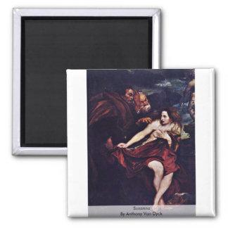 Susanna By Anthony Van Dyck Magnet