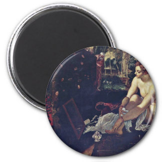 Susanna,  By Tintoretto Jacopo (Best Quality) Magnet