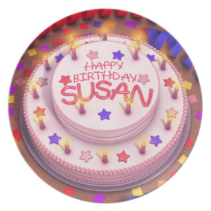 Happy Birthday Susan Party Home Furnishings Accessories Zazzleca