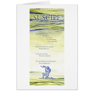 Suscipe (Prayer of St. Ignatius) Card
