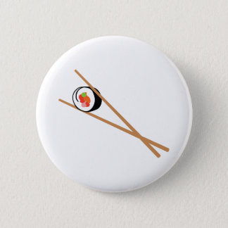 Sushi And Chopsticks 2 Inch Round Button