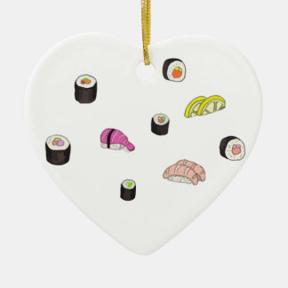 Sushi and Sashimi Ceramic Ornament