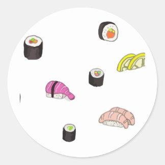 Sushi and Sashimi Classic Round Sticker