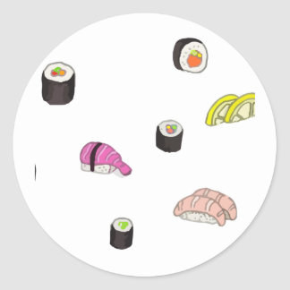 Sushi and Sashimi Round Sticker
