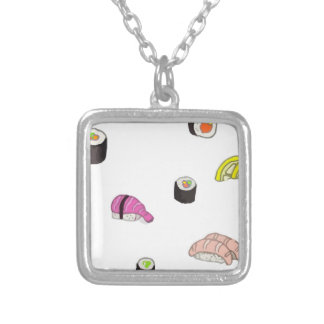 Sushi and Sashimi Silver Plated Necklace
