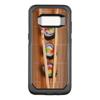 Sushi and wooden chopsticks OtterBox commuter samsung galaxy s8 case