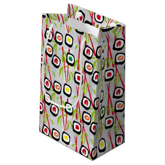 Sushi background small gift bag