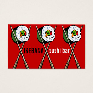 Sushi Bar Business Cards