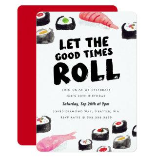 "Sushi Birthday Party 5"" X 7"" Invitation Card"