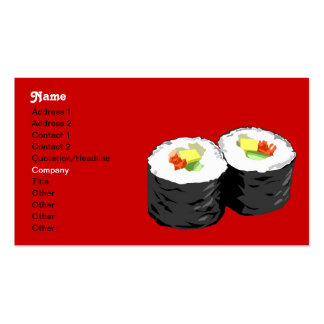 Sushi business card template