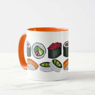Sushi California Spicy Tuna Roll Japanese Food Mug