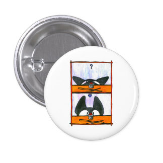 Sushi Cat! 1 Inch Round Button