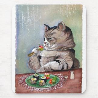 Sushi Cat Fancy Feast Mouse Pad