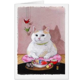Sushi Cat - Sashimi Sweetie Card