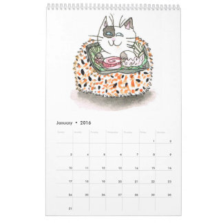Sushi Cats 2016 Calendar