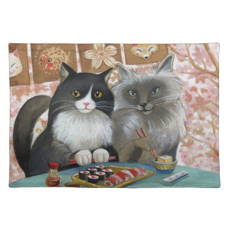 Sushi Cats Illustrated Placemat