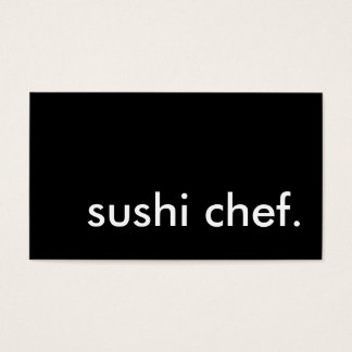 sushi chef. business card
