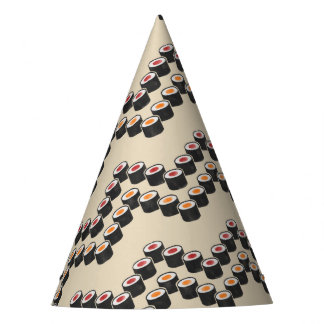 Sushi Chevron in Color Party Hat