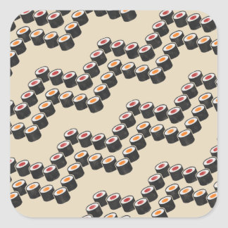 Sushi Chevron in Color Square Sticker