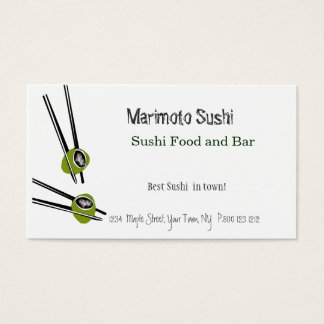 Sushi  Chinese Food Restaurant Business Card