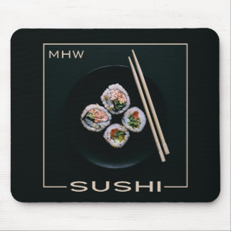 Sushi custom monogram mousepad