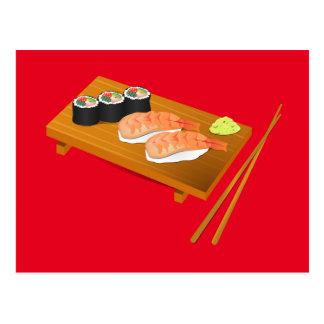 Sushi cute Japanese food Postcard