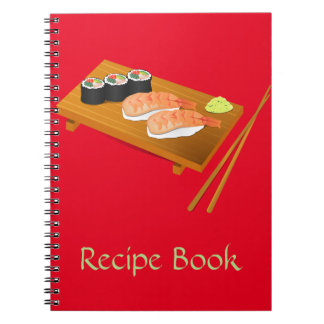 Sushi cute Japanese food Spiral Notebook