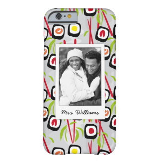 Sushi Design Pattern | Monogram Barely There iPhone 6 Case