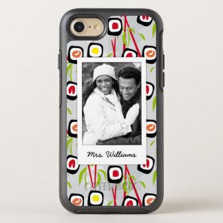 Sushi Design Pattern   Monogram OtterBox Symmetry iPhone 8/7 Case
