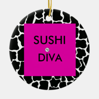 Sushi Diva Ornament by Zan Hanhof