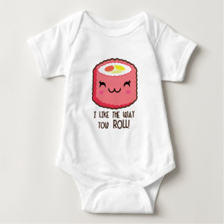 Sushi Emoji Roll Baby Bodysuit