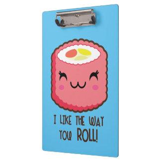 Sushi Emoji Roll Clipboard