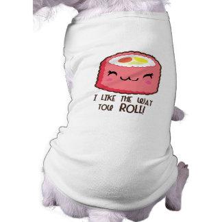 Sushi Emoji Roll Dog Tshirt