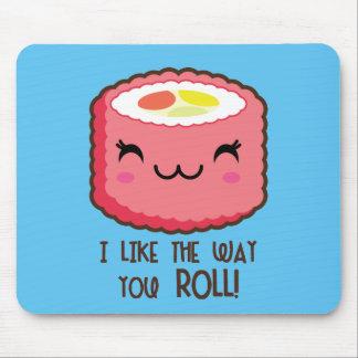 Sushi Emoji Roll Mouse Pad