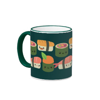 Sushi Friends Ringer Mug