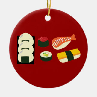 Sushi Fun Ceramic Ornament