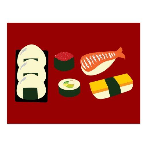 Sushi Fun Post Cards
