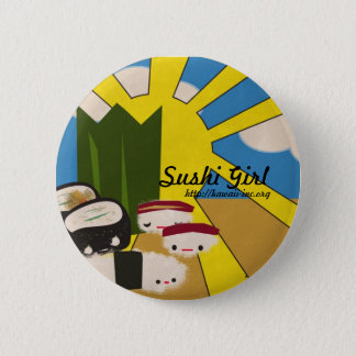 Sushi Girl 2 Inch Round Button
