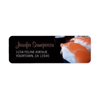Sushi Japanese Cuisine Return Address Label