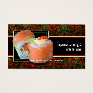 Sushi Japanese restaurant catering lessons Business Card