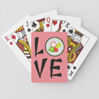 Sushi Love - Japanese Maki Roll Playing Cards