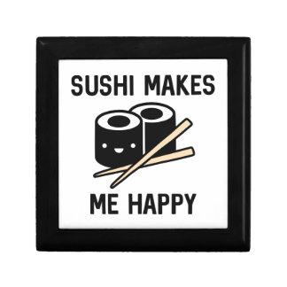 Sushi Makes Me Happy Keepsake Box