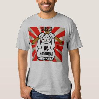 Sushi Maneki Neko Samurai Tshirt