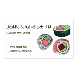 Sushi Master Double-Sided Standard Business Cards (Pack Of 100)