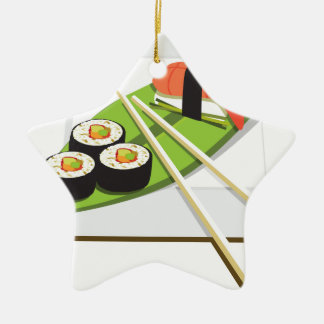 Sushi Meal Ceramic Ornament