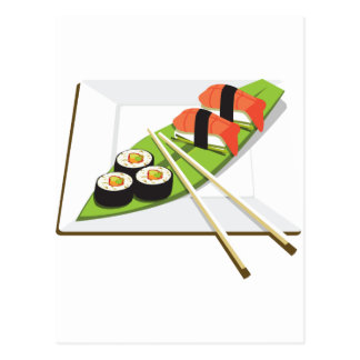 Sushi Meal Postcard