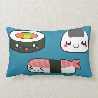 Sushi mushi lumbar pillow